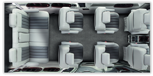 Explorer Van bucket seating options